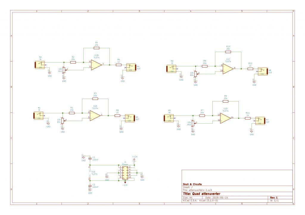 ATT-1 quad attenuverter schematic